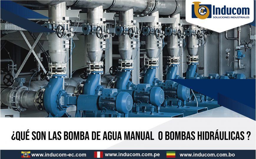 bombas de agua manual o bombas hidraulicas
